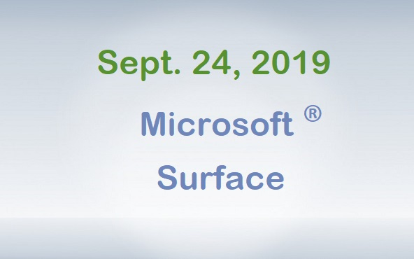 September 24, 2019 - Microsoft Surface